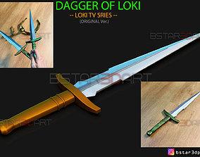 Loki Dagger 2021 - High Quality - Weapon 3D print model 4