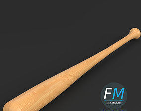 3D asset VR / AR ready PBR Baseball bat