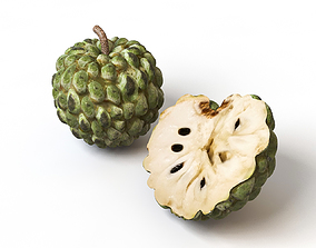 Sugar Apple Cherimoya 3D asset