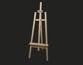 3D asset Detailed Game-Ready Simple Easel