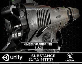 3D asset Kimber Warrior 1911 Black