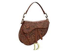 Dior Saddle bag Brown Hand-Embossed 3D model