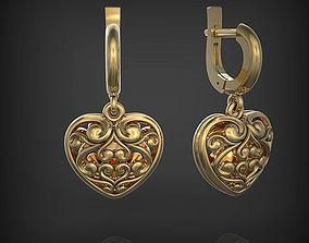 Earrings Heart 3D printable model