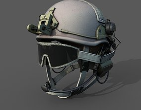 Helmet scifi military low poly 3d model game-ready