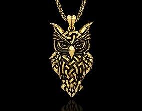 Celtic Owl Pendant 3D printable model