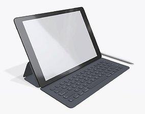Digital tablet with keyboard mock up 3D