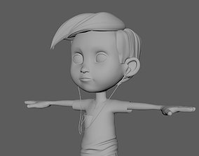 3D model generic boy character