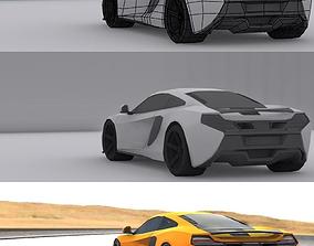 3D model Mclaren Mobile Game Ready