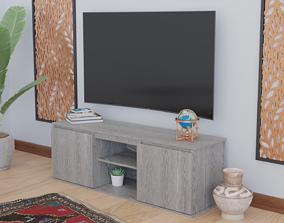 3D model WoodTVTable