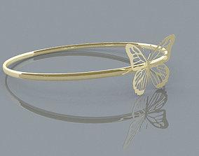 jewel Butterfly Ring 3D print model