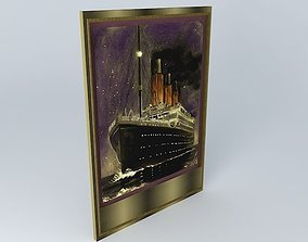 TITANIC Oil Painting Sculptured 1912 3D