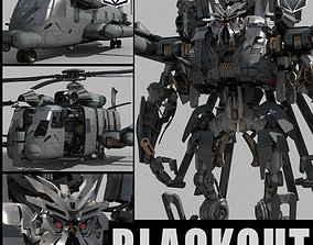animated Blackout is back - 3d animated transformer