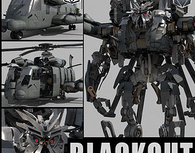 animated Blackout is back - 3d animated transformer model