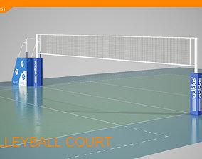3D volleyball court