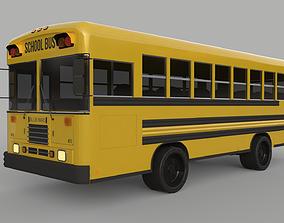 3D School Bus - Bluebird TC2000 Inspired