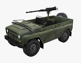 3D model UAZ Lowpoly