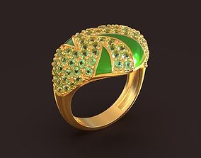 Spring Splash ring 3d model Tymoshchuk Hanna jewelry