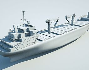 Cargo ship 3d model animated