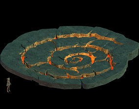 3D model Mountain - spell circle magma platform 09