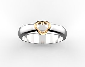 jewelry 3D printable model Heart ring