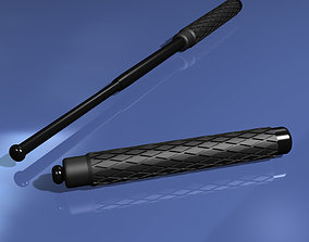 3D model Telescoping Baton
