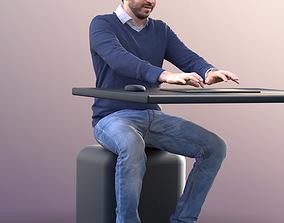 3D asset Anselmo 10231 - Working Business Man