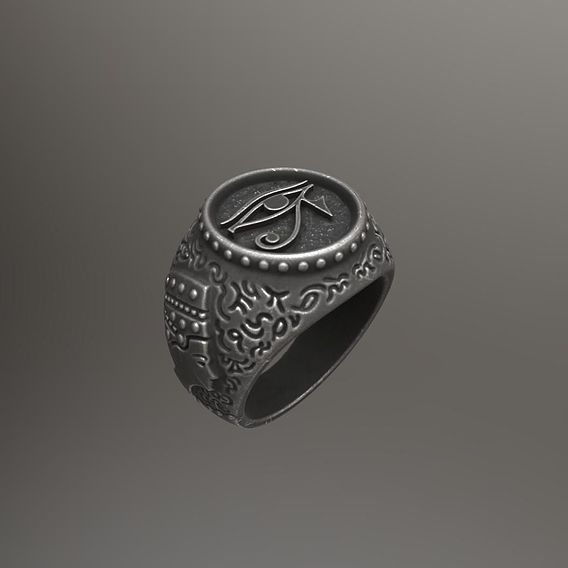 The Eye of Horus - Ring for 3d print