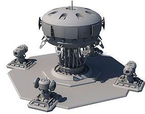 3D model Sci Fi Building 1504