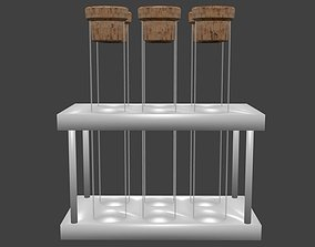 Tubes in stand 3D asset