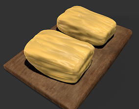Butter Wood Tray 3D model