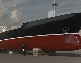 Cargo Ship 02 3D model
