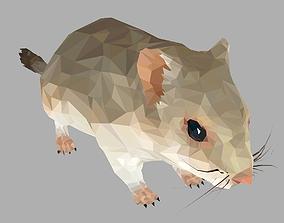 3D model Grey Sand Mous Low Polygon Art Animal Mouse