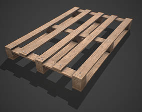 3D model Low poly European Wood pallet 03 PBR Game Ready