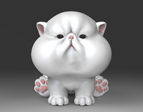 3D printable model The Chubbiest Cheeks Cat