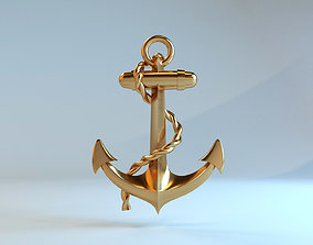 3D print model Golden Anchor