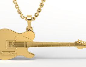 3D printable model 1953 Fender Telecaster Micawber 2