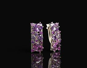 Women earrings 3D print model luxury