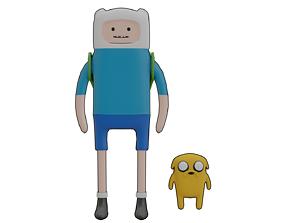Finn and jake 3d model animation