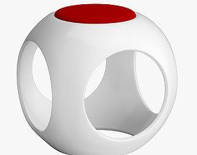 Minimalist Lightweight Sphere Stool exhibition 3D