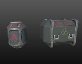 3D model realtime Sci-Fi Crates
