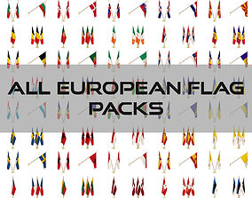 3D All European Flag Packs