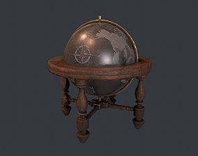 3D model Globe - Vintage Globe - Pirate Prop - Ship