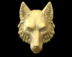 3D printable model pendants Wolf head
