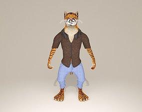 3D asset Cartoon tiger character