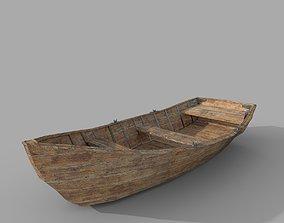 Classic wood Boat 3D model