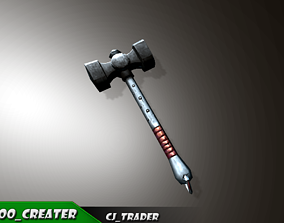 game-ready Fantasy Mace Lowpoly 3D Model