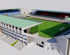 Jan Breydel Stadium - Bruges Belgium 3D model