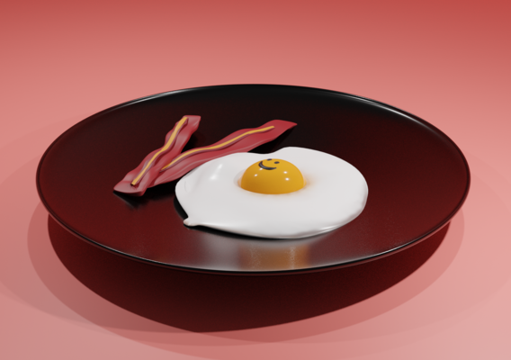 Breakfast: Egg with bacon!