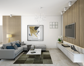 Livingroom Walking Closet Master Bedroom Guest 3D model