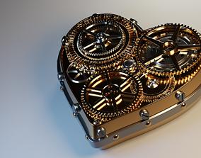 Steampunk heart 3D